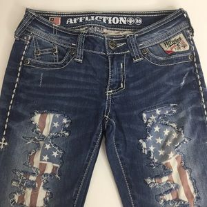 Affliction Jade Bootcut Distressed Jeans Size 25